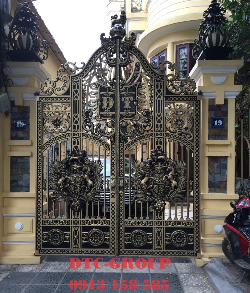 Cửa cổng nhôm đúc, cửa cổng biệt thự 2