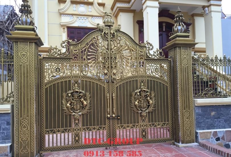 Cửa cổng nhôm đúc, cửa cổng biệt thự 6