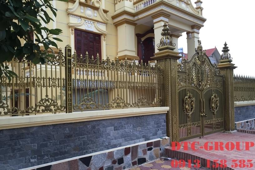 hàng rào nhôm đúc, hàng rào biệt thự