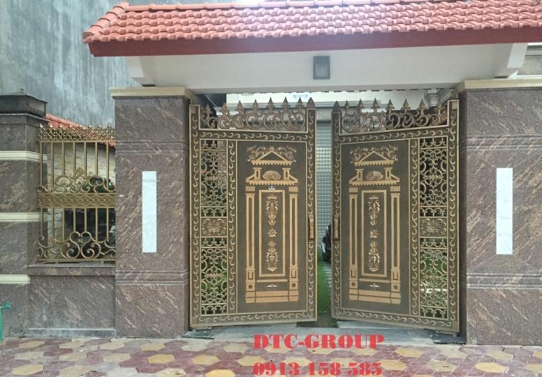 Cửa cổng nhôm đúc, cửa cổng biệt thự 13